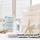 4 x Trocknerball – Bälle aus 100% Wolle zur Nutzung im Trockner, für schnelleres Trocknen und weichere Wäsche. Zeit und Kosten sparen durch Trocknerbälle für jede Wäsche, Decke, Kissen, Kopfkissen oder Daunen im Wäschetrockner. Trocknerkugeln für Wäschetrockner. - 3
