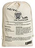 Trocknerbälle merino balls – 6 große Wollbälle aus reiner neuseeländischer Schafwolle für schnelle Trocknung und weiche Wäsche - 3