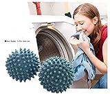 ANKKO 10 Stück Wiederverwendbar ungiftig Wäsche Bälle Trockner Bälle Wäschepflege Wäscheservice Kugeln, Zufällige Farbe - 5