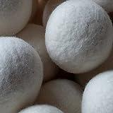 Decdeal 6er Trocknerbälle Trocknerkugeln aus Wolle zur Nutzung im Trockner - 4