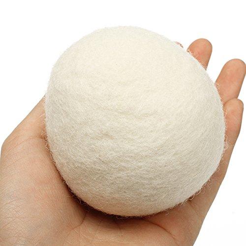 Bluelover 8ST XL Wolle Trockner Ball wiederverwendbare Natrual Stoff Weichspuler Kugeln fur Waschestander Maschine - 6