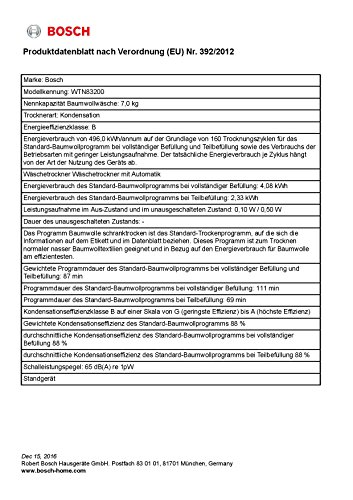 Kondenstrockner Bosch WTN83200 Serie 4 - 4