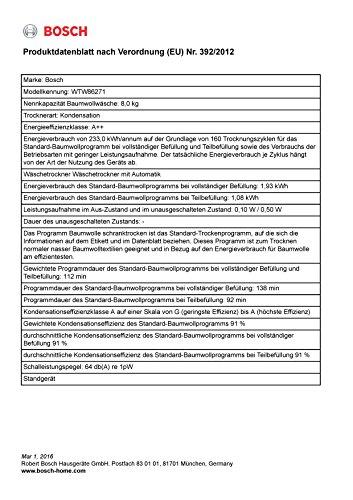 Wärmepumpentrockner Bosch WTW86271 - 4