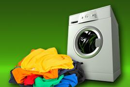 Wärmepumpentrockner mit Wäsche