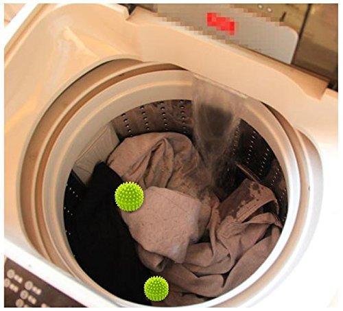 ANKKO 10 Stück Wiederverwendbar ungiftig Wäsche Bälle Trockner Bälle Wäschepflege Wäscheservice Kugeln, Zufällige Farbe -