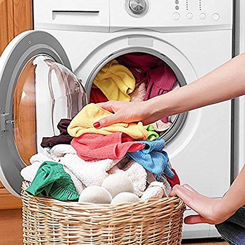 BeFur 6er Pack Wolle Filzbälle Filzkugel Wäschetrockner Bälle Trocknerkugeln XXL für Wäsche Trockner Trocknerbälle -