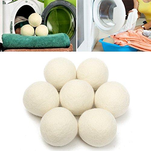 Bluelover 8ST XL Wolle Trockner Ball wiederverwendbare Natrual Stoff Weichspuler Kugeln fur Waschestander Maschine -