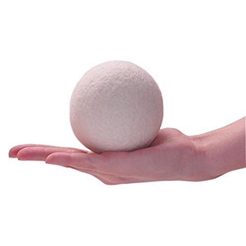Decdeal 6er Trocknerbälle Trocknerkugeln aus Wolle zur Nutzung im Trockner -