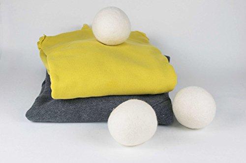 Extragroße XXL- Jumbo Trocknerbälle von 8-Natur im 6er Pack - Die natürliche Alternative zu Chemie aus 100% reiner Merinowolle. Weiche Handtücher und kuschelige T-Shirts kommen schneller aus dem Wäschetrockner. Trocknerkugeln sind kostensparend, trocken schneller für jede Wäsche, Kissen, Daunen und Kopfkissen -