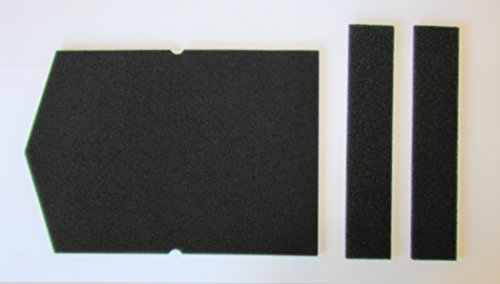 Filter Set für Miele Schwammfilter 6057930 + 9688381 Wärmepumpentrockner Filter Trockner Kondenstrokner Filterschaum Schaumstoff Sockelfilter -