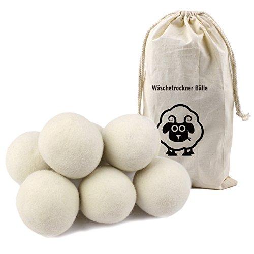 Litian 8er Pack 7cm Trocknerbälle, Aus 100% Premium-Schafwolle, Wäschetrockner Bälle für Wäschetrockner -