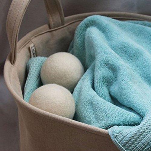 Trocknerbälle für Wäschetrockner aus Wolle, für schonende Daunenpflege, ökologischer Weichspüler, ideale Geschenkidee zu Babykleidung oder Windeln aus Stoff, der schönende Weichspüler aus 100% neuseeländischer Schafswolle, leiser und sanfter für die Kleidung, Reduzierung der Energie und der Trocknungszeit, wiederholten Verwendungen (70mm, 2 bälle) -