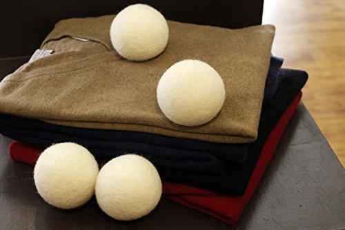 Trocknerbälle für Wäschetrockner aus Wolle von i-Gruv, 6er Set, für schonende Daunenpflege, senkt Stromverbrauch und ist gleichzeitig ökologischer Weichspüler, auch ideale Geschenkidee zu Babykleidung oder Windeln aus Stoff, sparen Sie jetzt! -