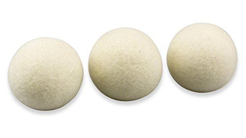 Trocknerbälle & Trocknerkugeln aus 100% echter Neuseeland-Wolle - schonender Weichspüler SOFT, inkl. Leinensäckchen (3) -
