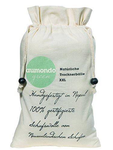 Trocknerbälle XXL für Wäschetrockner. 6 extragroße Filzbälle, der natürliche Weichspüler. Ideal für Daunenjacken. Trocknerkugeln -
