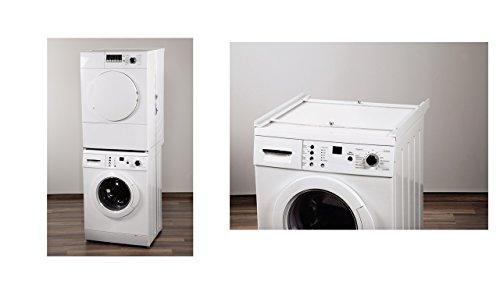 verbindungsrahmen ohne arbeitsplatte f r waschmaschine trockner neu zum aufschrauben auf die. Black Bedroom Furniture Sets. Home Design Ideas