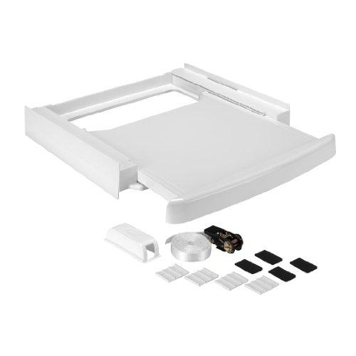 Wpro SKS100 Waschmaschinenzubehör/ Zwischenbaurahmen mit Ablage / Waschmaschine und Trockner/ Universell -