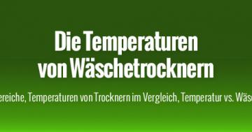 Temperaturen von Wäschetrockner im Vergleich